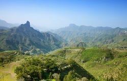 Gran Canaria, Caldera de Tejeda i Januari arkivfoto