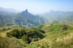 Gran Canaria, Caldera de Tejeda i Januari arkivfoton