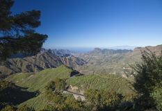 Gran Canaria, Caldera de Tejeda i November arkivbild