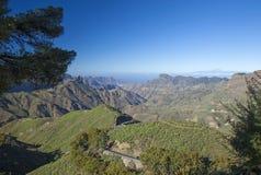 Gran Canaria, Caldera de Tejeda i November arkivfoto
