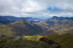 Gran Canaria, Caldera de Tejeda i vår royaltyfria foton