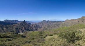 Gran Canaria, Caldera de Tejeda, Januari arkivfoto