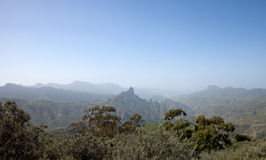 Gran Canaria, Caldera de Tejeda in January, calima in the air Stock Image