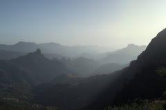 Gran Canaria, Caldera de Tejeda, late afternoon light Stock Images