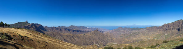 Gran Canaria, caldera de Tejeda, luce di mattina Fotografia Stock