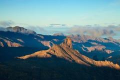 Gran Canaria, Caldera de Tejeda, morgonljus fotografering för bildbyråer