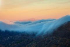 Gran Canaria, Caldera de Tejeda, morgonljus, soluppgång arkivbilder