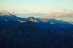 Gran Canaria, Caldera de Tejeda, morning light Stock Images