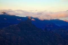 Gran Canaria, Caldera de Tejeda, morning light, sunrise Royalty Free Stock Image