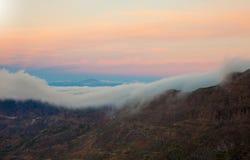 Gran Canaria, Caldera de Tejeda, morning light before sunrise Stock Image
