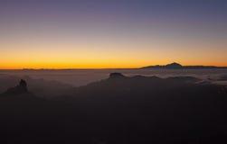 Gran Canaria, Caldera de Tejeda, nivelando a luz Fotografia de Stock Royalty Free