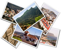 Gran Canaria Collage. Collage of Gran Canaria Canary Islands photos isolated on white background royalty free stock images