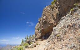 Gran Canaria, Cuevas de Caballero at Risco Chapi Stock Photos
