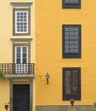 Gran Canaria, detail van de Las Palmas het oude stad stock fotografie