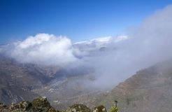 Gran Canaria, February. Gran Canaria, fog in Las Cumbres, the highest areas of the island, February stock photo
