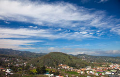 Gran Canaria, February. View over Vega de San Mateo, agricultural landscape royalty free stock images