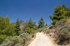 Gran Canaria, footpath to Roque Nublo Stock Photography