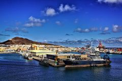 Gran Canaria Harbour royalty free stock photo