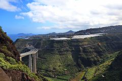 Gran Canaria. Has a well-developed road network royalty free stock photography