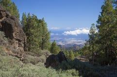 Gran Canaria, hiking path Cruz de Tejeda - Teror Stock Image