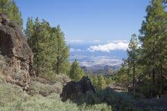 Gran Canaria, hiking path Cruz de Tejeda - Teror Royalty Free Stock Photo