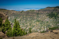 Gran Canaria hillside villages Stock Images