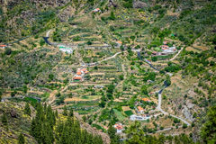 Gran Canaria hillside villages Royalty Free Stock Image