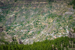 Gran Canaria hillside villages Royalty Free Stock Photography