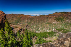 Gran Canaria hillside villages Royalty Free Stock Images