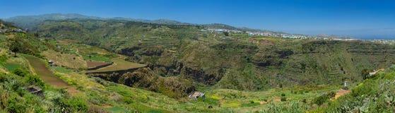 Gran Canaria, inland northern parts, panoramic view over Barranc Stock Photo