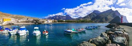 Gran Canaria island- picturesque traditional fishing village La Aldea de San Nicolas de Tolentino royalty free stock photography