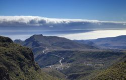 Gran Canaria, January. Temisas, shadows of the clouds over the ocean stock photo