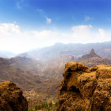 Gran canaria La culata view from Roque Nublo Royalty Free Stock Photos