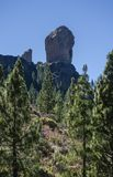 Roque Nublo in the distance Royalty Free Stock Image