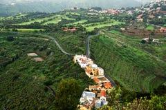 Gran Canaria landscape. Landscape of Gran Canaria seen from Pico de Bandama stock image