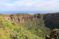 Gran Canaria landscape. Caldera de Bandama - volcanic landscape of Gran Canaria, Spain stock photos