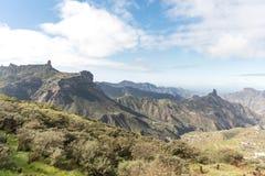 Gran Canaria landscape of Roque Nublo. Landscape of Roque Nublo mountains in Gran Canaria, Spain Stock Image