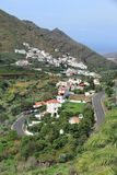 Gran Canaria. Landscape, Spain. Los Berrazales canyon and village royalty free stock photography