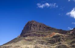 Gran Canaria, Marzec, zadziwia stubarwne warstwy Azulejos zdjęcie royalty free