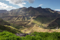 Gran Canaria. Mountain landscape of the island Gran Canaria, Spain royalty free stock images
