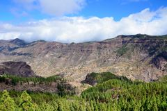 Gran Canaria mountain Stock Photography