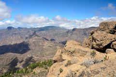 Gran Canaria mountain Royalty Free Stock Photography