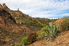 Gran Canaria mountains royalty free stock photography