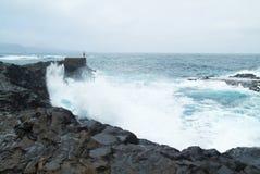 Gran Canaria, north west coast at Banaderos area, basalt rocks Stock Photos