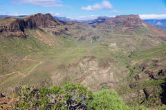 Gran Canaria - panorama do interior imagem de stock royalty free