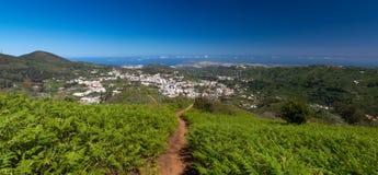 Gran Canaria, panoramic view of Teror Stock Photos