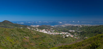 Gran Canaria, panoramic view of Teror Royalty Free Stock Photography