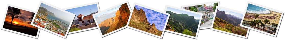 Gran Canaria photo montage Royalty Free Stock Photos