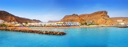 Gran canaria puerto de mogan beach Stock Image