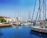 Gran canaria Puerto de Mogan marina boats Stock Photography